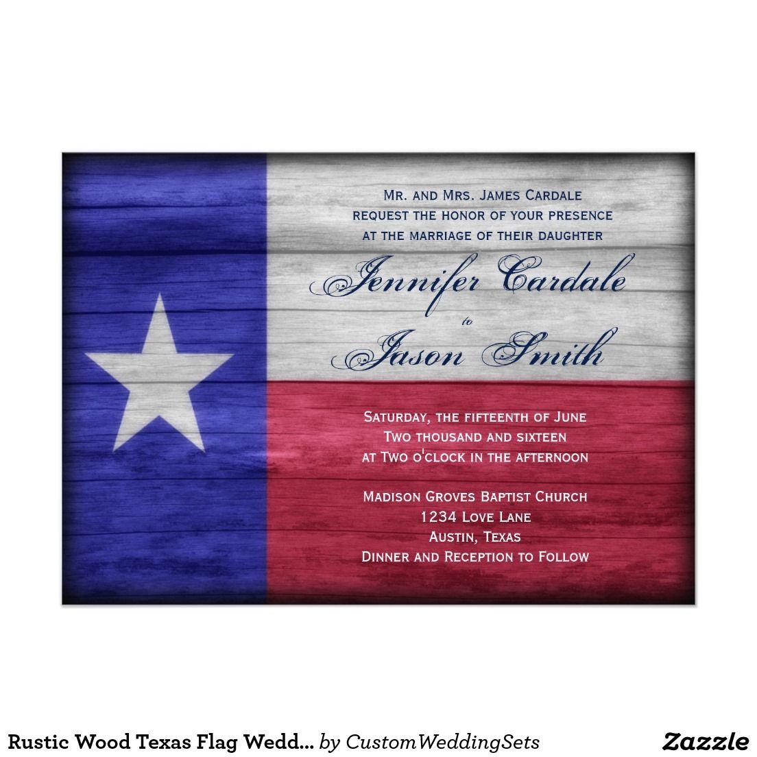 Rustic Wood Texas Flag Wedding Invitations | Pinterest | Texas flags ...
