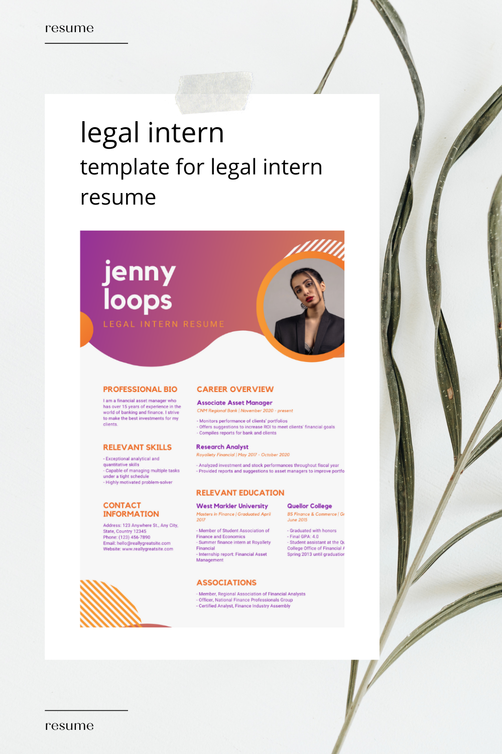 Legal Intern Resume Resume 2021 Template For Legal Intern Resume In 2021 Resume College Information Resume Templates