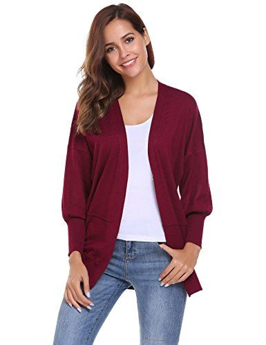Womens Long Sleeve Button up lightweight Ladies Chunky knitted Granddad Cardigan