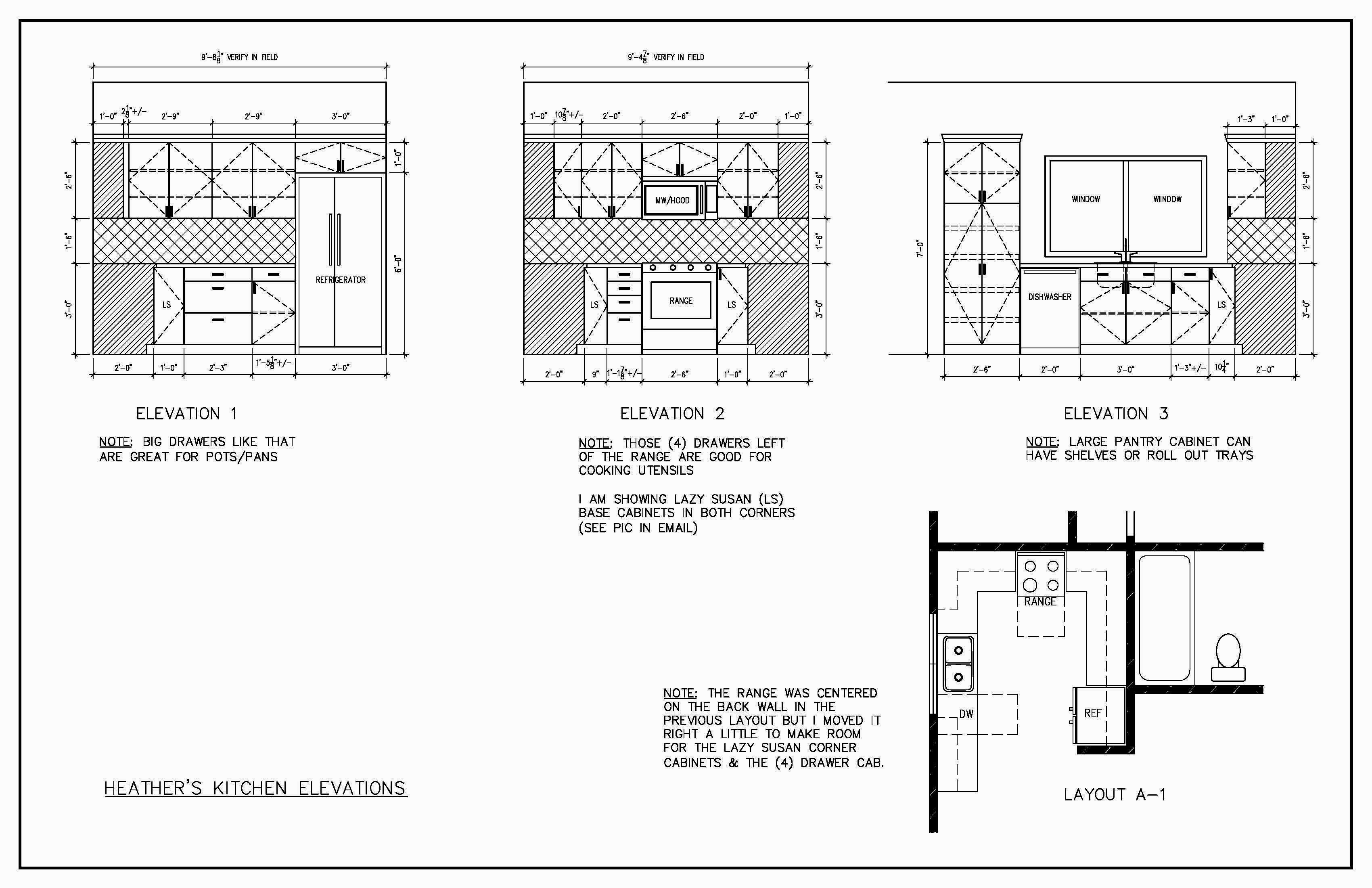 Kitchen Elevation Plan U Shape Kitchen Cabinets Design Layout