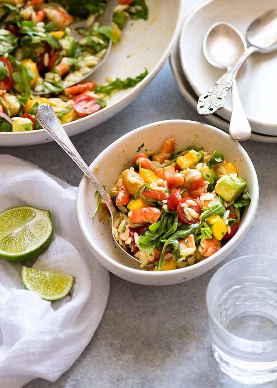 Prawn Mango Avocado Summer Salad Recipe Summer Salads Mango Recipes Wild Rice Salad Recipe [ 1260 x 900 Pixel ]