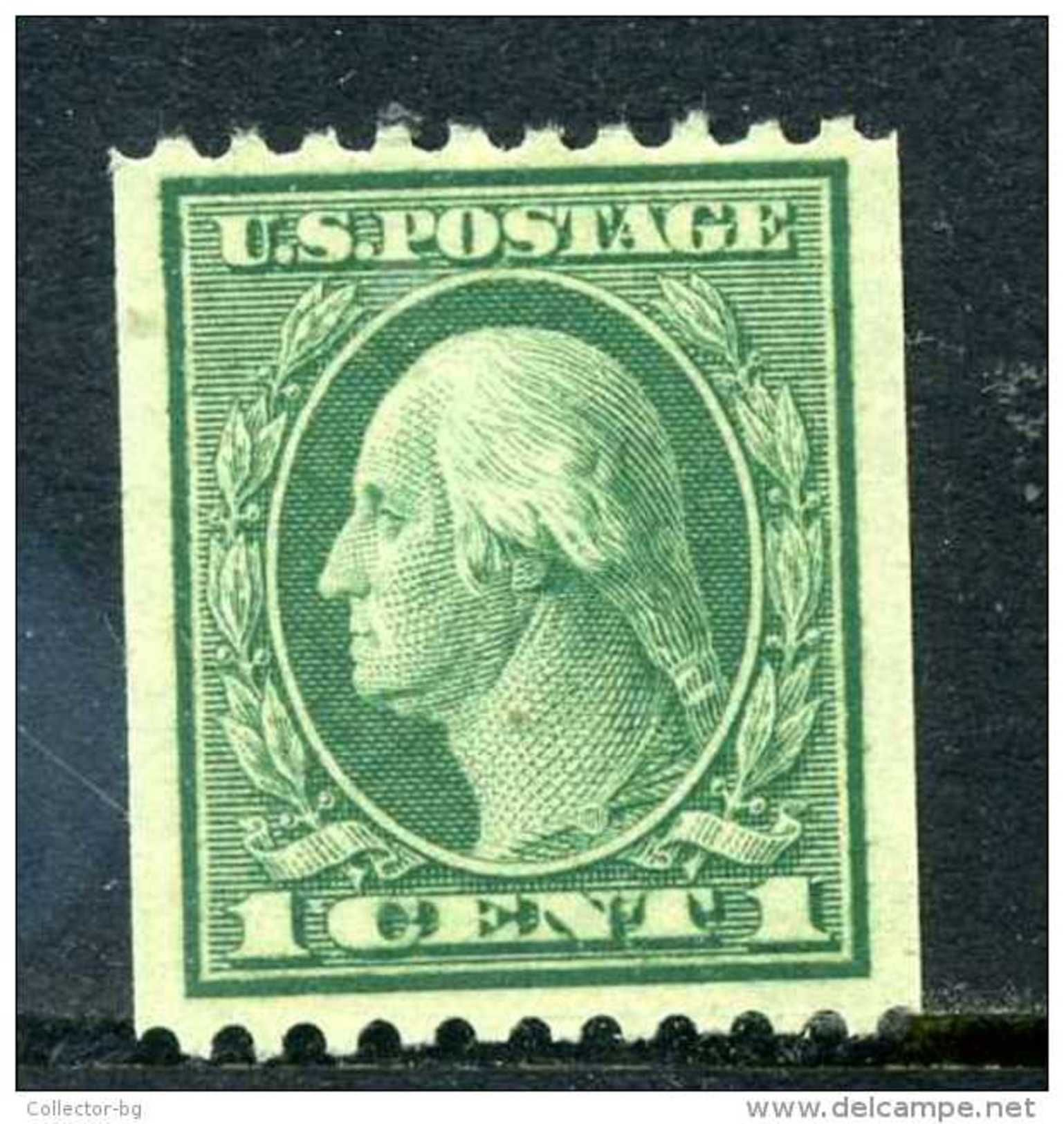 ULTRA RARE RRR 1 CENT US POSTAGE GREEN FRESH COLOR USA WASHINGTON IMPERF SUPERB STAMP TIMBRE