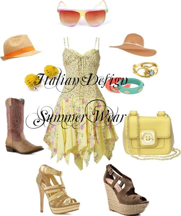 Italian Design Summer Wear, created by kimstyles on Polyvore