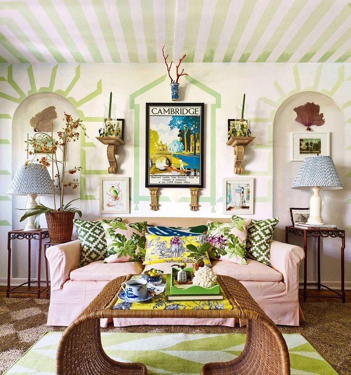 Tropical Beach House Interior: Inside A Chic And Charming Mural-filled Palm Beach
