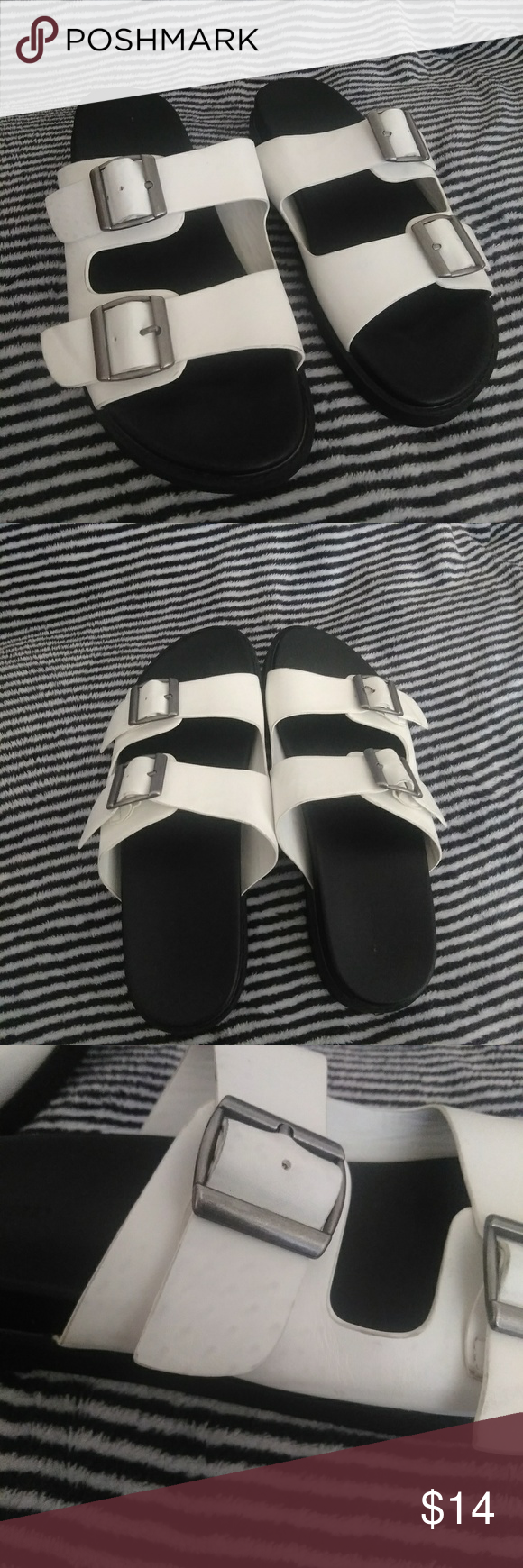 3fbe1cae7896 Forever 21 Birkenstock Style Sandals Size 8 Good condition Worn once Size 8  Has a few small light marks on the side (shown in pics) Forever 21 Shoes  Sandals