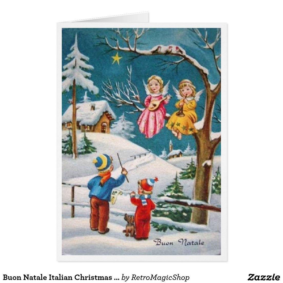 Buon natale italian christmas card italian christmas natale and buon natale italian christmas card italian christmas natale and custom christmas cards kristyandbryce Images