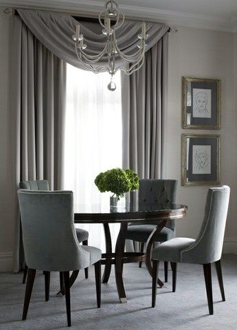 We Love This Elegant Swagged Curtain Dressing