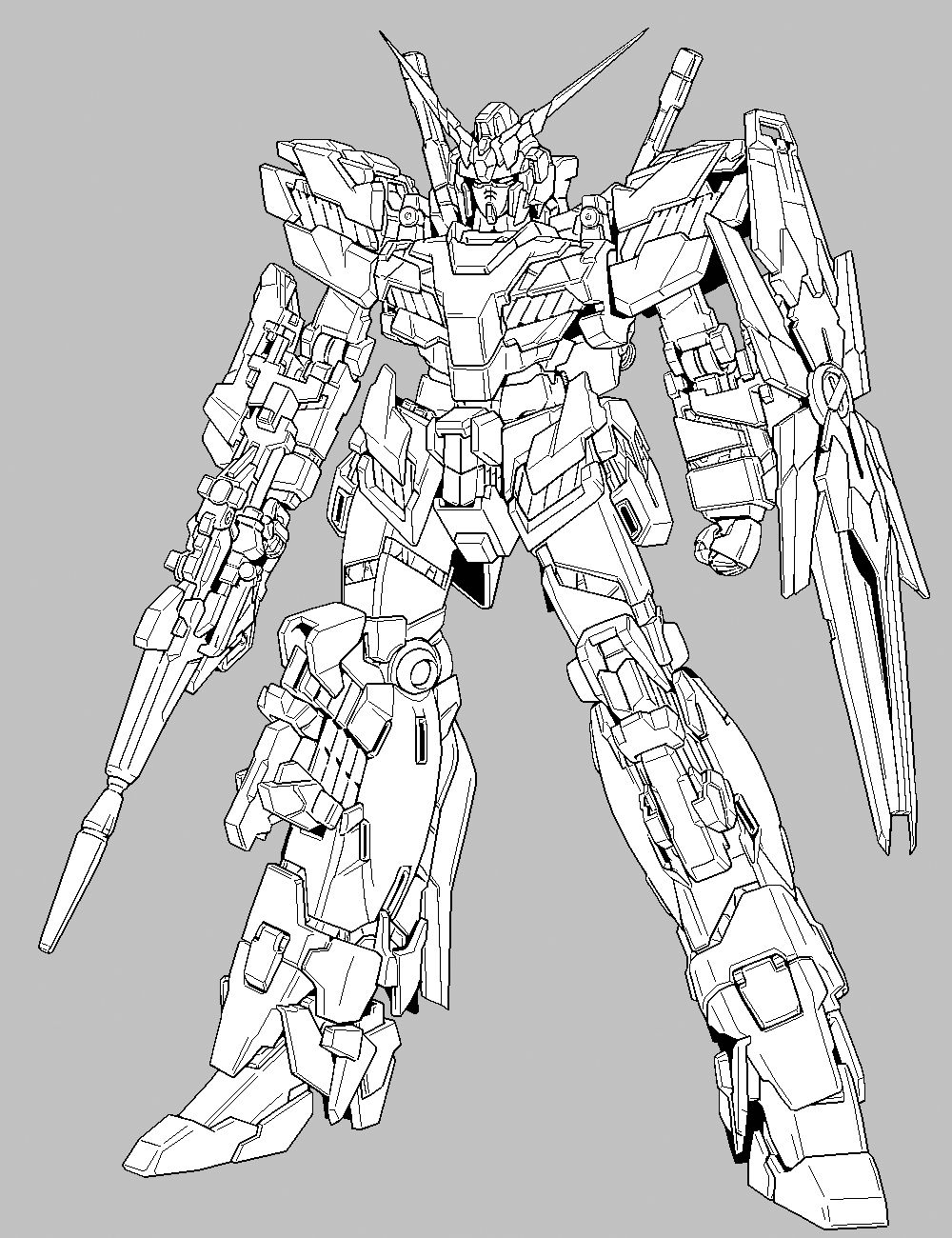 Rx 0 Unicorn Gundam D Mode Gundam Avengers Coloring Pages Coloring Pages