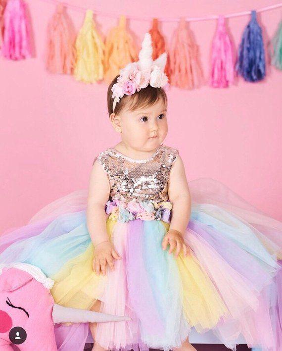 dd6b0ea4246 Sequins Unicorn Tutu Dress Flower Girl Dress Tulle Dress Unicorn Tutu  Unicorn Birthday Tutu Unicorn
