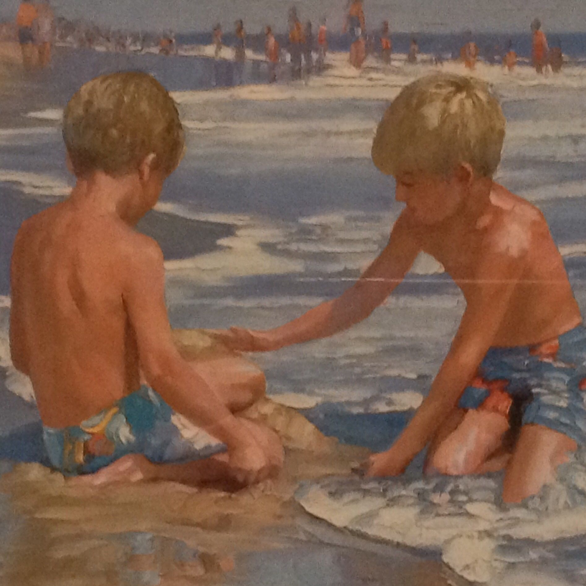 Framed Print Boys at the Beach | Artwork and Printing