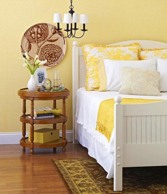 A Dozen Ways To Play With Happy Yellow Yellow Bedroom Bedroom Design Bedroom Decor
