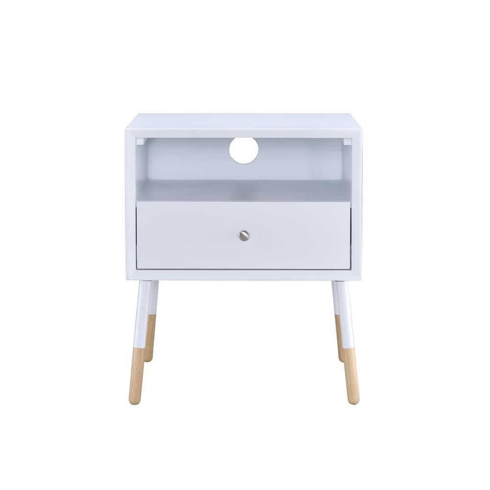 Redesign Your Space With The Acme Furniture Sonria Ii End Table This End Table Has A Modern Style Which Makes I In 2020 Acme Furniture End Tables White Console Table