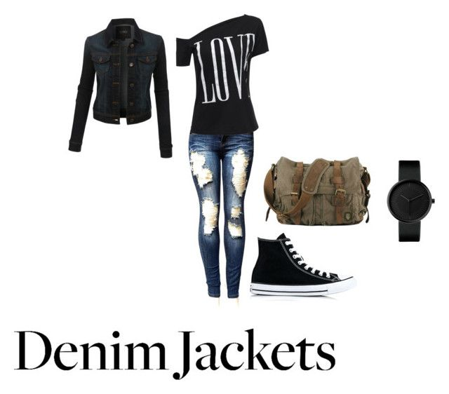 """""""Jamming For Jean"""" by kate-loves-fashion ❤ liked on Polyvore featuring Converse and LE3NO"""