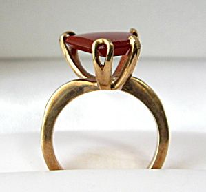 Jeray Genuine Sardonyx Ring Unusual Vintage 10kt Gold. Click on the image for more information.