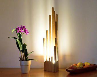 Ostana Sipo And Solid Frake Lamp Etsy Oak Lamp Lamp Wood Lamps