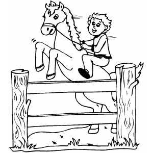 Unique Horse Jumping Coloring Pages 22 Explore Coloring Pages Fence
