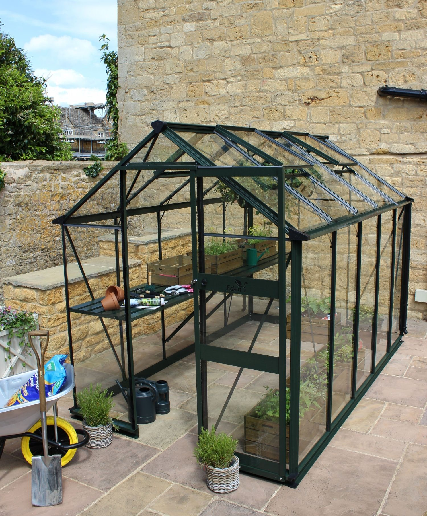 The Eden Burford Greenhouse Proudly Made In Britain Ideas Nature Outdoorliving Outdoor Yard Realpalmtrees Com Yardideas Coolideas Di Small Urban Garden