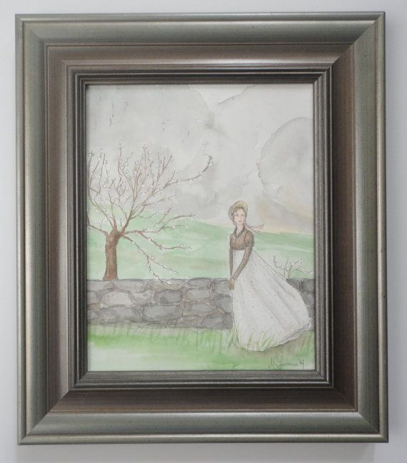 Elizabeth in Kent.  Original Watercolor.