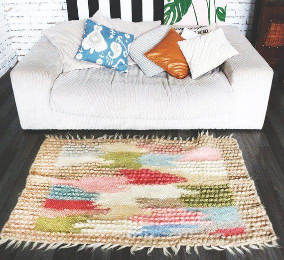 Bedside Rug Organic Wool Nursery Baby Room Bedroom Scandinavian