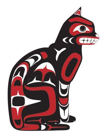 Northwest coast native american art house cat gerrad for Native american tattoo artist seattle