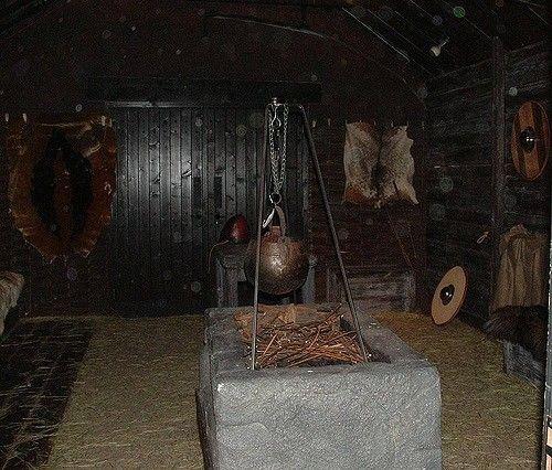 Interior Of A Longhouse Scandinavian Architecture Viking House Vikings