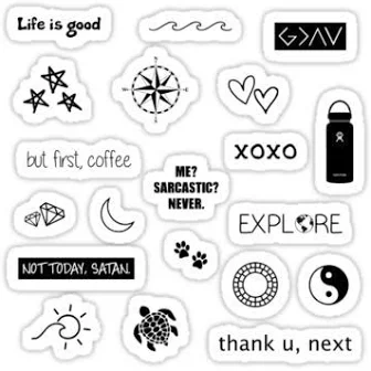 Vsco Stickers Black And White Google Search Bedruckbare Aufkleber Aufkleber Sticker Drucken