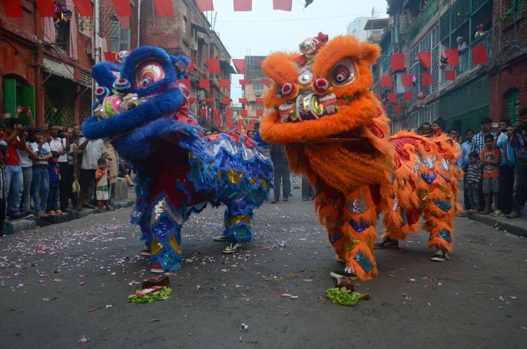 Chinese New Year in India NurPhoto/Getty Images Dragon