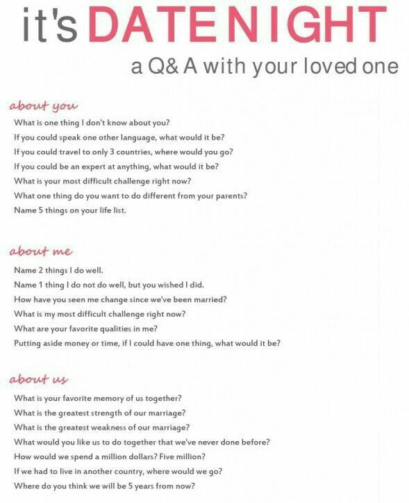 Date Night Convo Questions