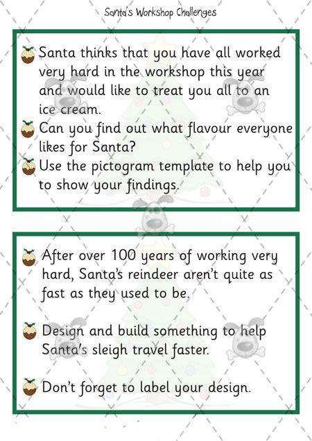 Teacher S Pet Santa S Workshop Challenge Cards Premium Printable Classroom Activities And Preschool Christmas Activities Card Challenges Resource Classroom