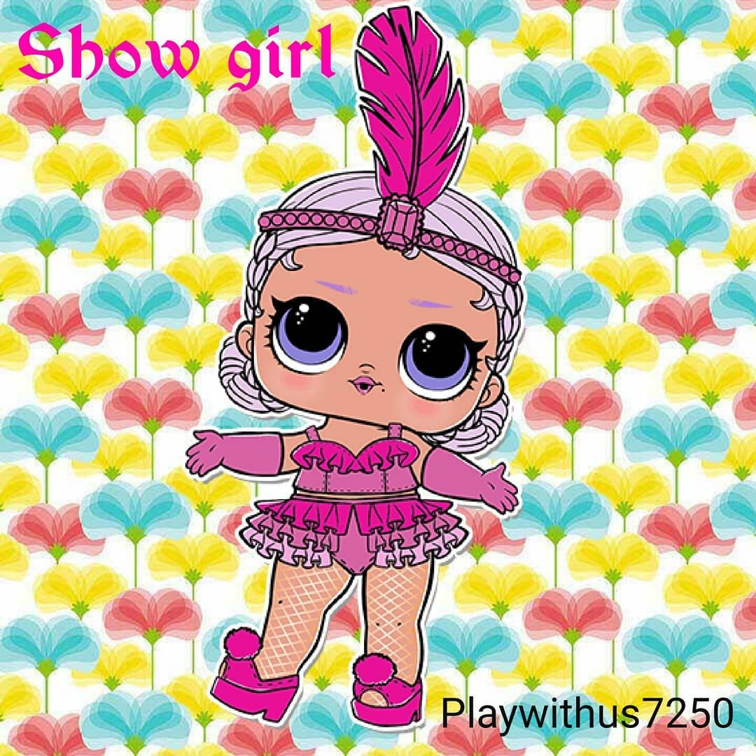 Lol Surprise Sister Show Girl Wall Paper Art Made By Us Foxy Wallpaper Lolsurprise Lolsurprisedolls Lolsurpriseconfettipop Lol Dolls Child Doll Paper Art