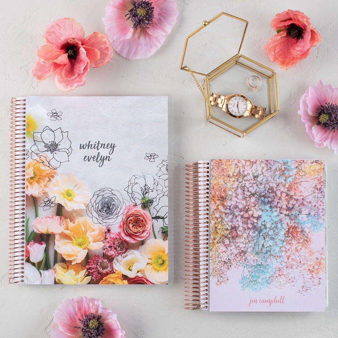 Stunning New Gws X Erin Condren Floral Planners And Notebooks In 2020 Wedding Planner Binder Wedding Planning Binder Floral Planner
