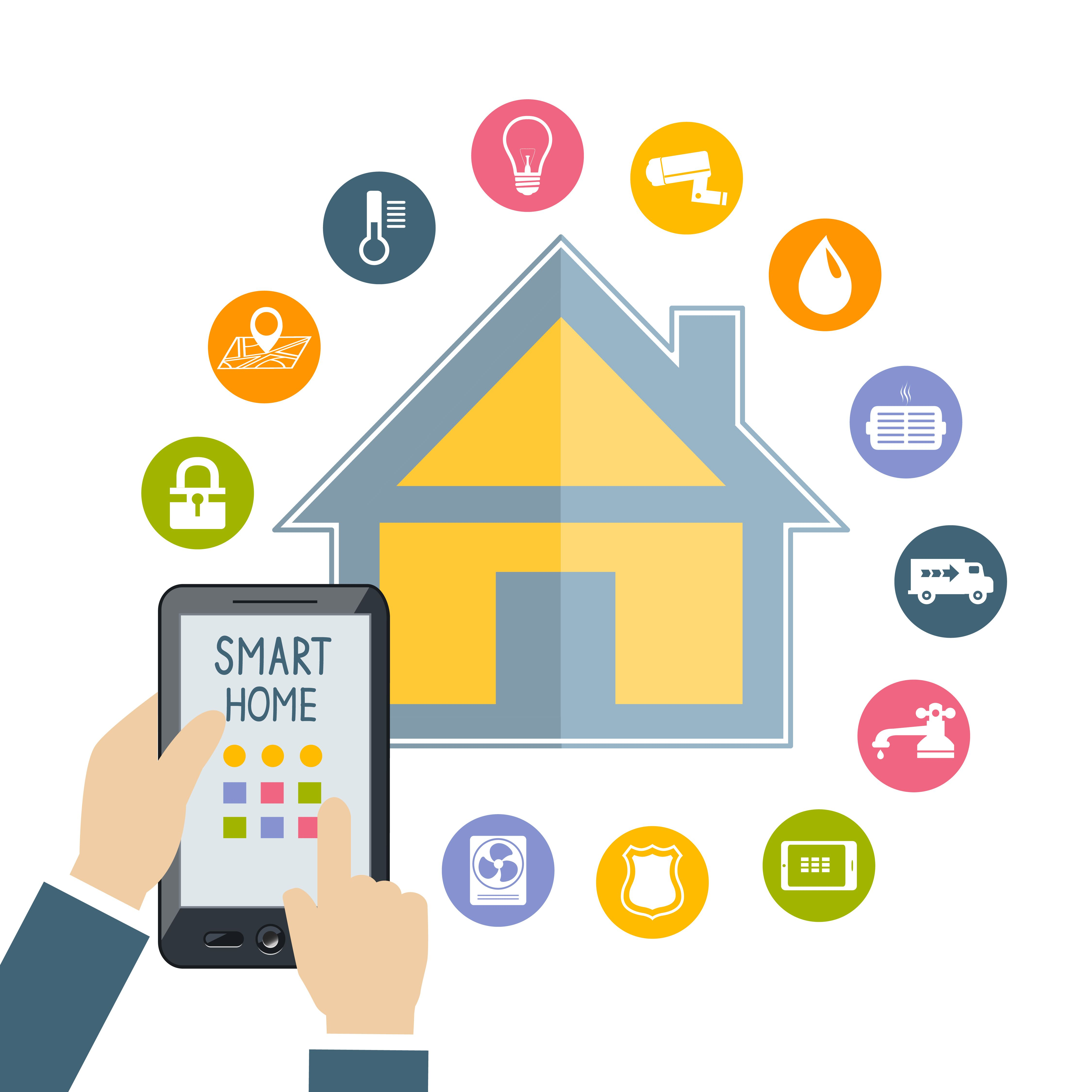 Smart Home Technologies: Home, Technology And Icons