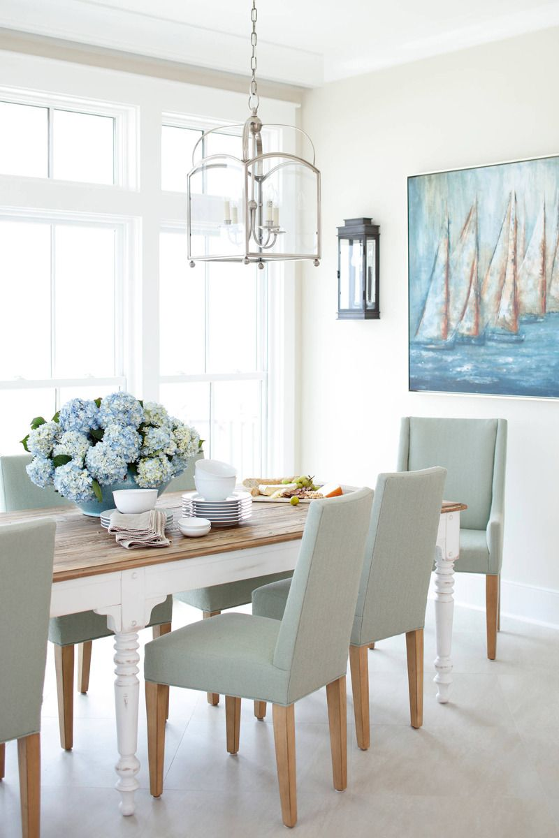 Pin By Jean On Shades Of Blue 2 White Dining Room Table Beach