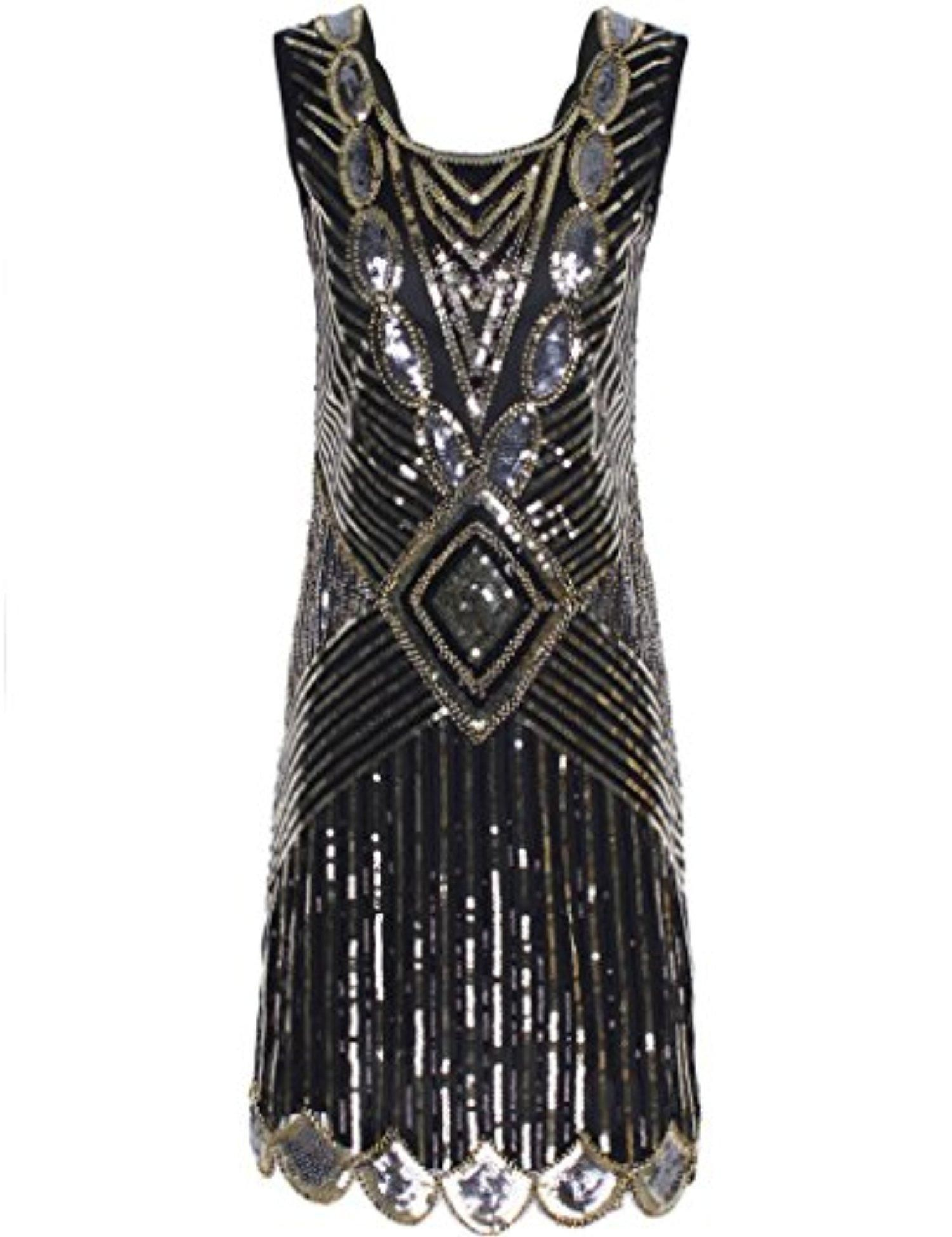 PrettyGuide Women\'s 1920s Gatsby Sequin Art Deco Inspired Flapper ...
