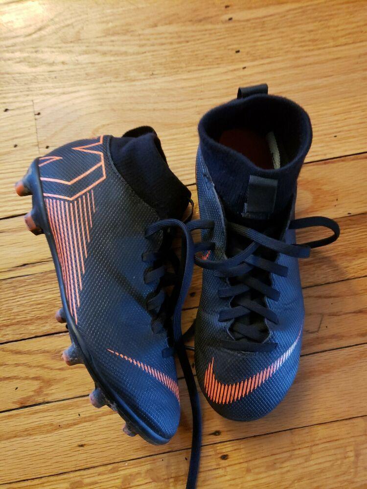 Nike Mercurial Jr Superfly 6 Club Mg Ah7339 081 Black Orange Soccer Cleats 2y Nike Soccer Cleats Superfly Orange Black