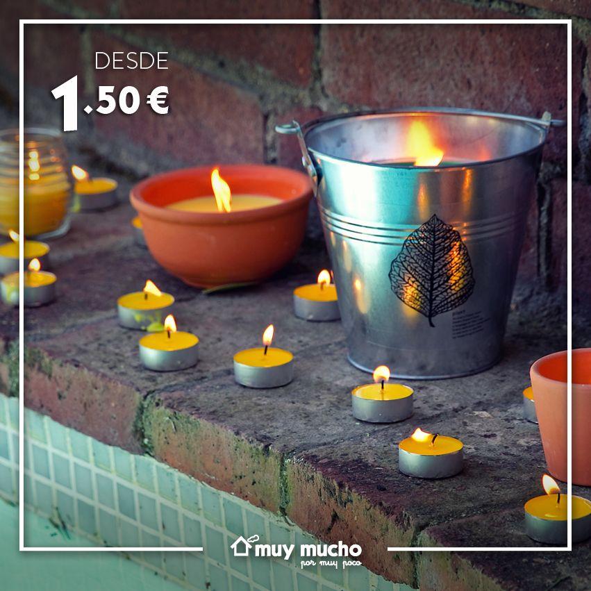 Velas y citronela para decorar tu jardín y piscina.