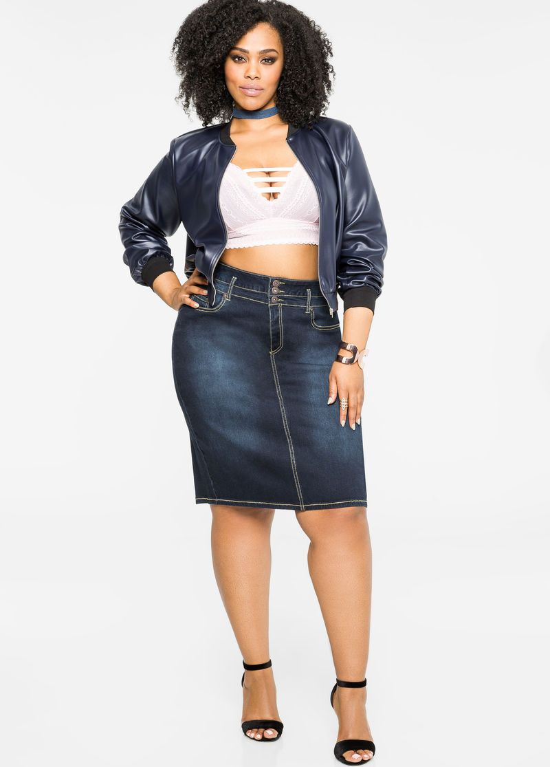 ea2a4f30a27e2 Denim Skirt Overalls Plus Size