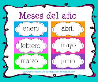 Tira De Los Meses Del Año Meses Del Año Calendario Preescolar Actividades