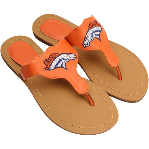 c49084446867b6 Cuce Denver Broncos Women s Orange Gladiator Sandals
