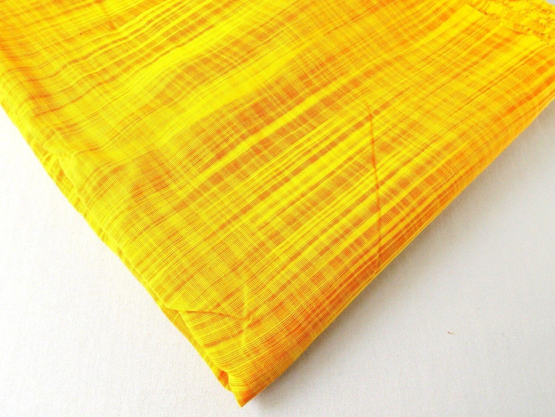 Turmeric Yellow Slub Cotton Fabric
