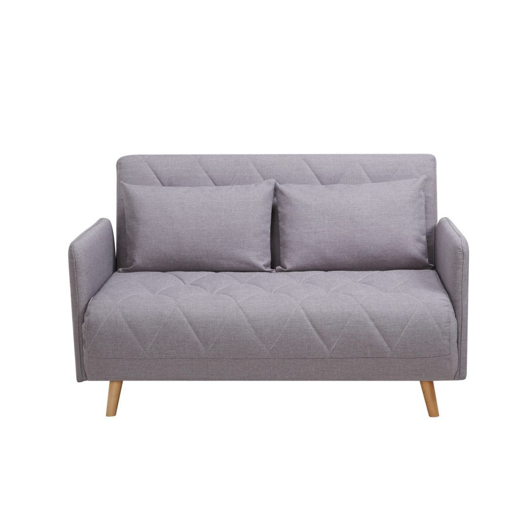 Stellen 2 Seater Sofabed Light Gray Small Studio Apartment