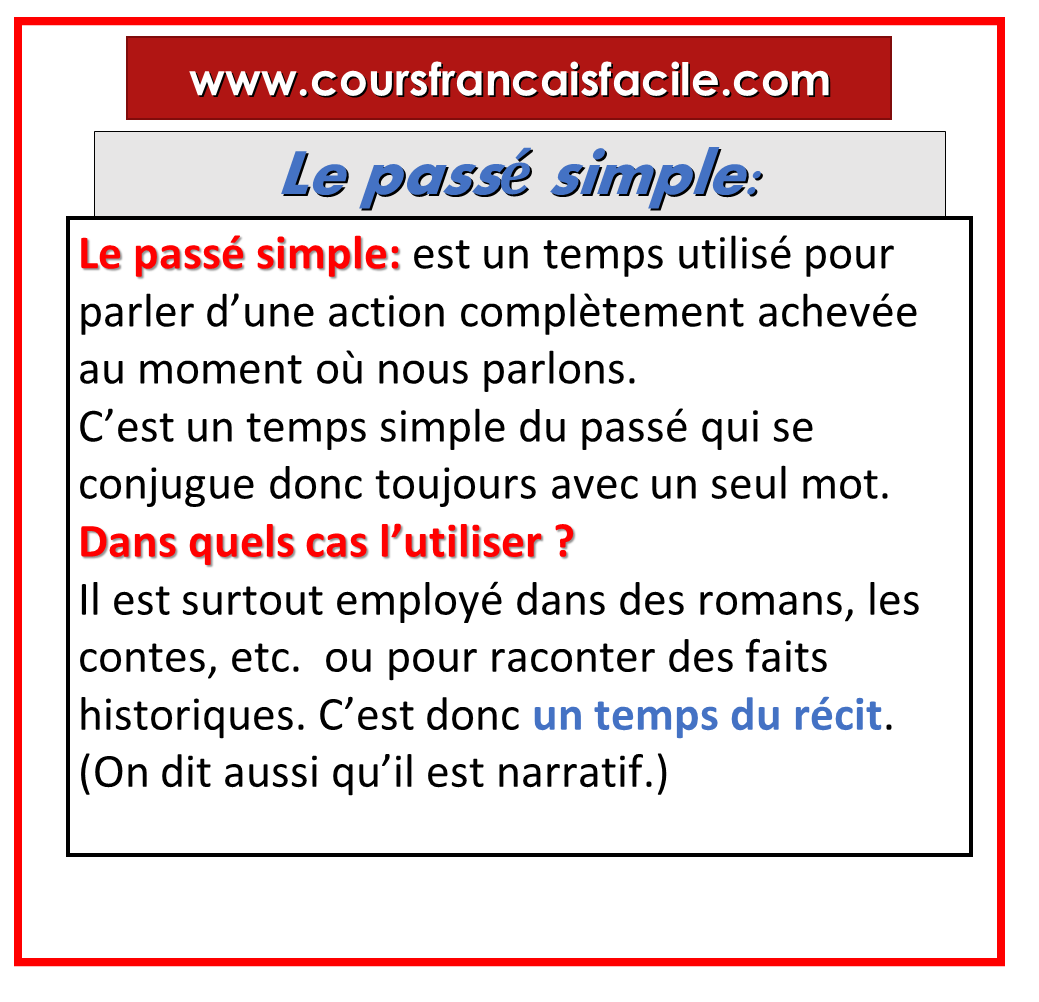 Le Passe Simple Definition French Language Learning French Vocabulary Teaching French