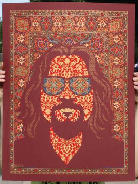 Charming Todd Slateru0027s Big Lebowski Poster Ties Together The Dudeu0027s Face And  The Infamous Rug