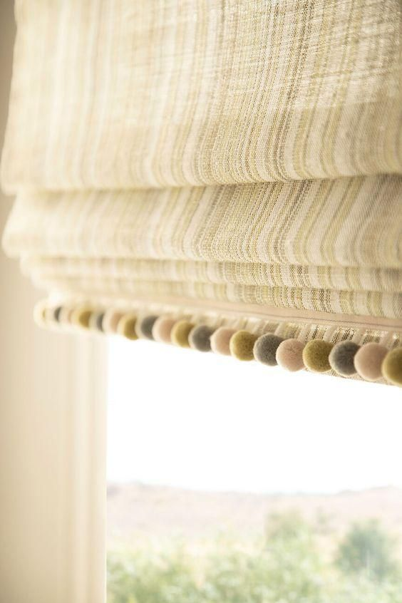 Pom Pom Trim For Roman Shades In 2020 Roman Shades