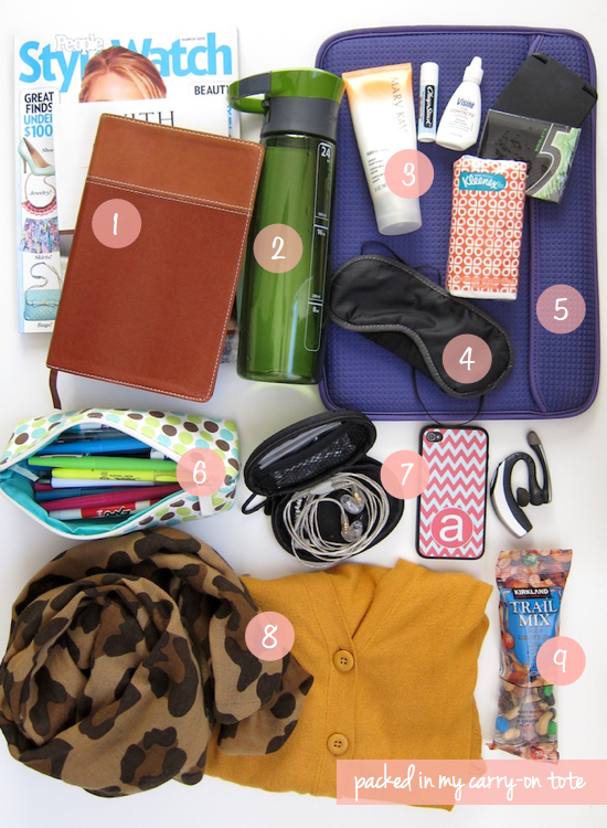 Putting Me Together: What's In My Airplane Tote? | Travel Ideas ...