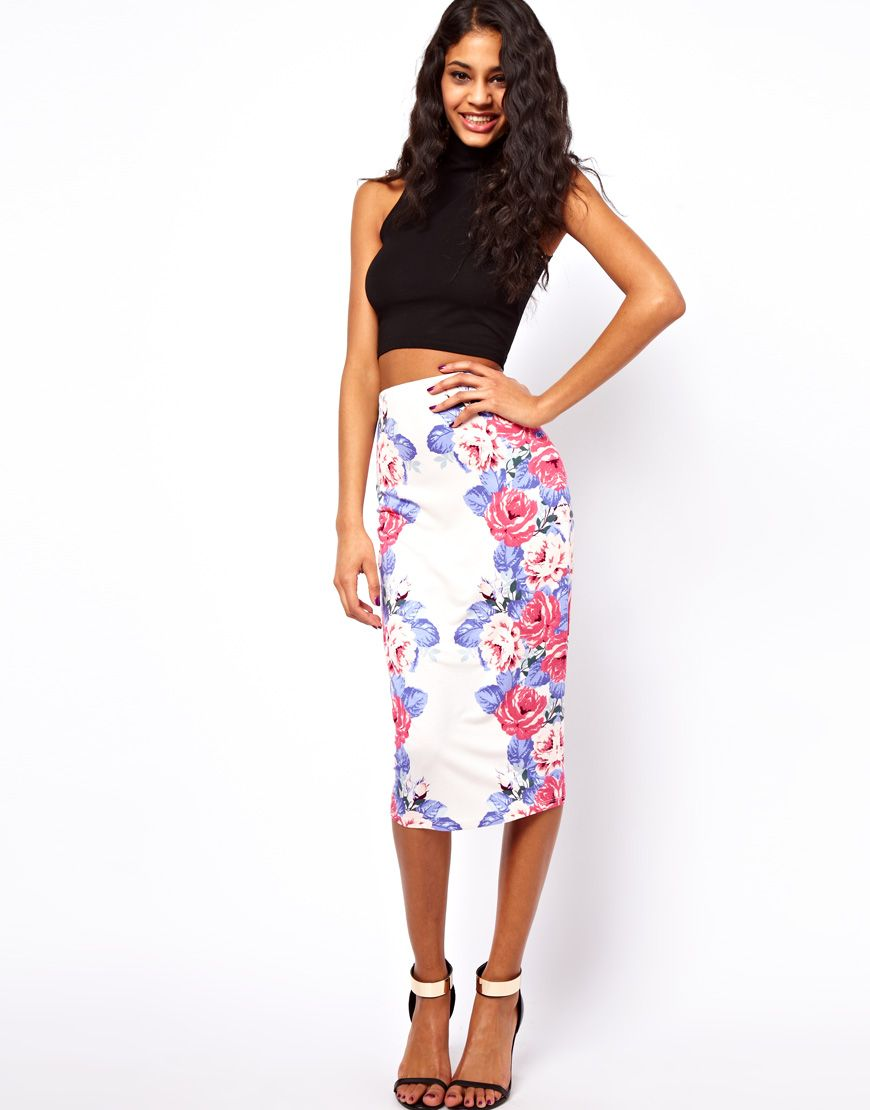25 Fun Ways to Wear Floral | Asos sale, Printed pencil skirt and ...