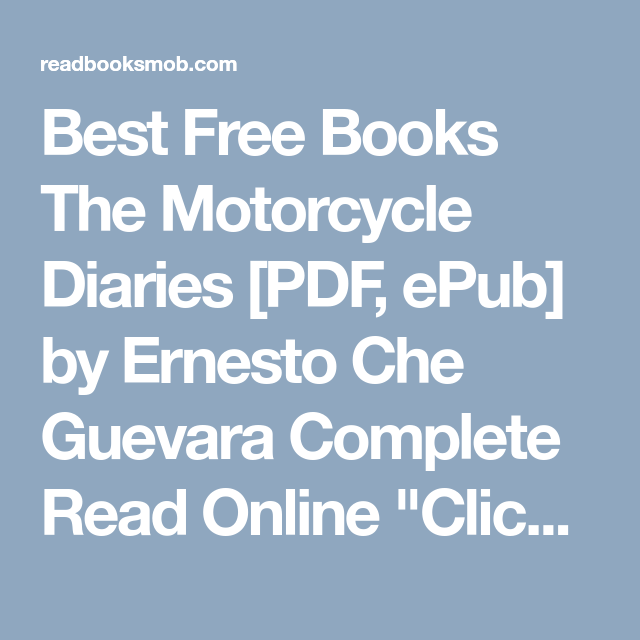 Motorcycle Diaries Ebook