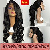 Helene Hair Sexy Loose Deep Wave Wig Brazilian Virgin Hair Human Hair Glueless Full Lace Wigs With Baby Hair 180% Density ( 24″)