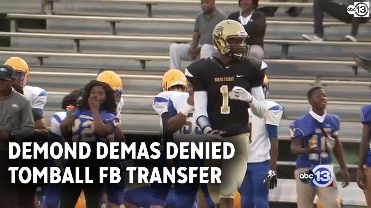 Demond Demas denied transfer to Tomball Football, to