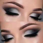 41 Insanely Beautiful Makeup Ideas for Prom   StayGlam  Dramatic Black and Silve…